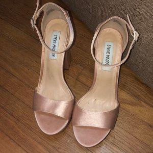 Pink satin Steve Madden heels